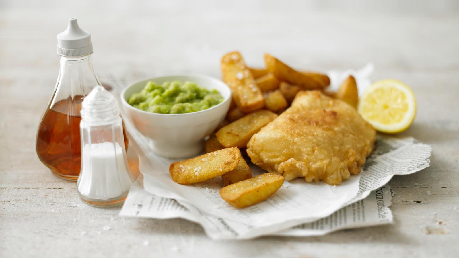 Fish & Chips met Mushy Peas
