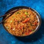 Vegetarische Indiase Chow Mein