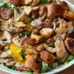 Maaltijdsalade met kip, andijvie en ansjovis
