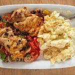 Harissa kip met tomaten salade