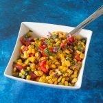 Verfrissende mais salade